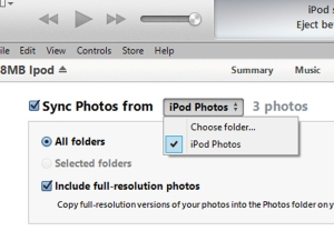 Choose folder photo