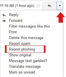 Gmail Report Phishing