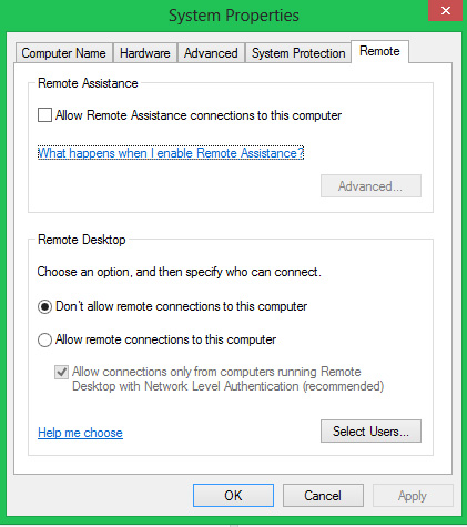 remote desktop disable