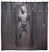 han solo carbonite shower curtain