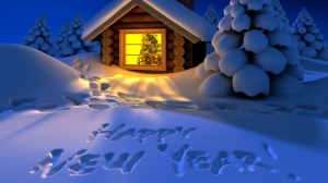 Happy New year snow