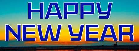 happy New Year sunset
