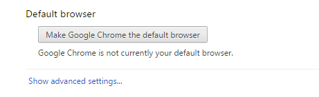 Chrome browser default