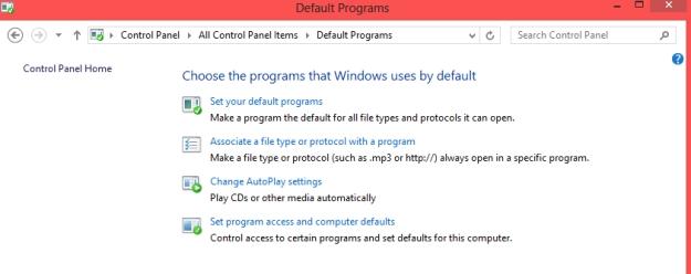 default program screen
