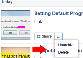Delete saved post