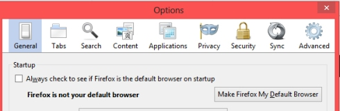 Firefox default check