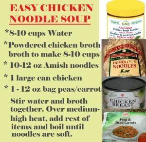 Easy chicken noodle