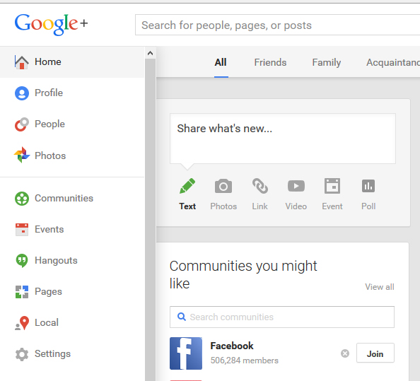 Google plus Home