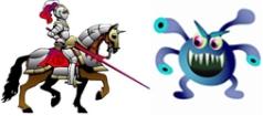 knight battle bug