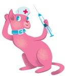 pink cat nurse