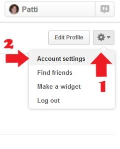 PInterest account settings