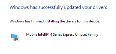 Windows Successfully Updated