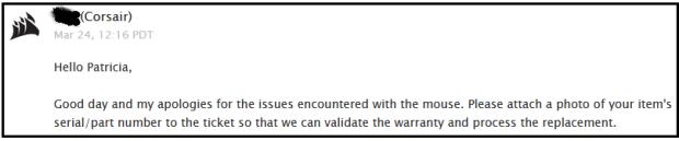 Corsair email